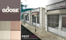 GOOSE - Petit Paris. - 4 Awning colors included