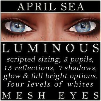 Mayfly - Luminous - Mesh Eyes (April Sea)