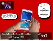 *HDD* Smartphone Keyboard Overrider with Texting HUD