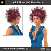 A&A Fiona Hair Raspberry (Special Color).  Promo! Includes Standard and Petite sizes!