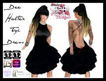 S&R Dee Halter Dress Top ~ Black
