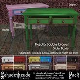 Schadenfreude Acedia Double Drawer Side Table Pack
