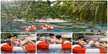 """Aphrodite""""Loving couple"""" pool floater for pool or beach"""