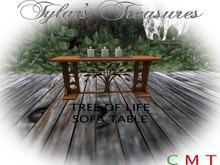 .:TT:.  TREE OF LIFE SOFA TABLE boxed