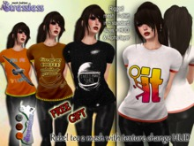 Stressless - GIFT - Rebel Tee 2 mesh with texture change HUD