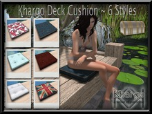 KHARGO DECK CUSHION - MENU DRIVEN ANIMATION CHANGE - 6 STYLES INCLUDED