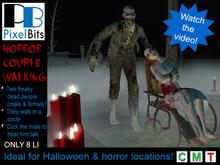 PB - Horror Couple Walking. Creepy love!