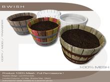 BWish - Half Whiskey Barrel Flower Pot Mesh
