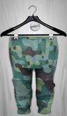 Admirable. Layered Joggers.Camoflauge (Teal)