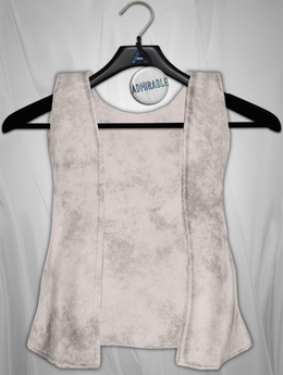 Admirable. Velvet Vest (White)