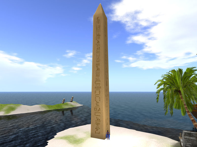 Second Life Marketplace 1 Prim Sculpted Egyptian Obelisk 40 Meters Tall