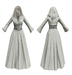 Stahma hooded gown with hair 1