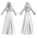 Stahma hooded gown with hair 2
