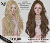 !Saltgrass! Skylar Full Permission Rigged-Mesh Hair