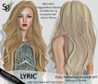 !Saltgrass! Lyric Full Permission Rigged-Mesh Hair
