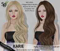 !Saltgrass! Karie Full Permission Rigged-Mesh Hair