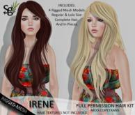 !Saltgrass! Irene Full Permission Rigged-Mesh Hair