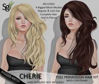 !Saltgrass! Cherie Full Permission Rigged-Mesh Hair