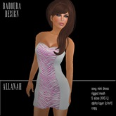 BD-Allanah pink zebra animal print Mini Dress Mesh Gift