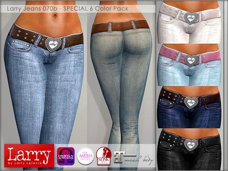 LARRY JEANS - Jeans 070b - 6 Color Pack
