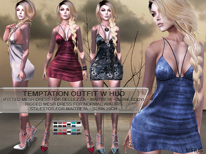 *MIRUS* Temptation Outfit (fitted Bellezza Maitreya Slink body)