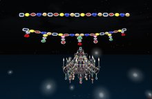 wedding decorations Gem light strings and chandelier