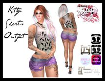 S&R Kitty Shorts & Top
