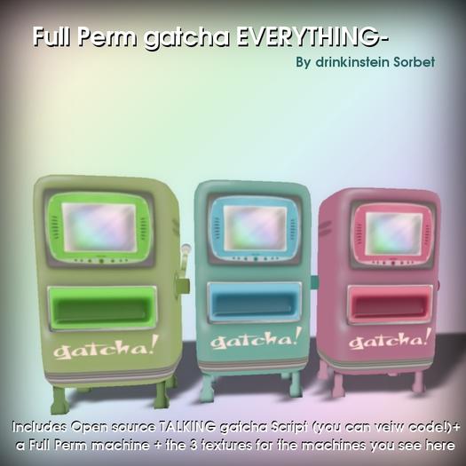 Full Perm Supercute GACHA Gatcha script, machines, textures- by Drink!