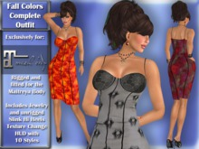 Exclusively for Maitreya Lara DEMO -  Fall Colors complete outfit