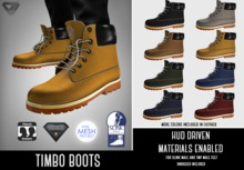 SALE - ILLI - [SLink,MeshProject Men,Classic,Aesthetic] Timbo Boots (HUD Driven)