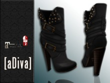 aDiva Kenya Moto Boots Black Slink High & Maitreya Lara & TMP High