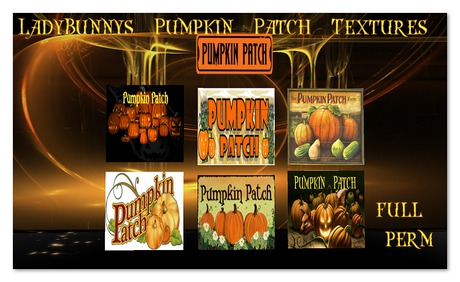 **How About That....Texture!**LadyBunnys Pumpkin Patch Sign Textures {Full Perm Halloween fall Textures}
