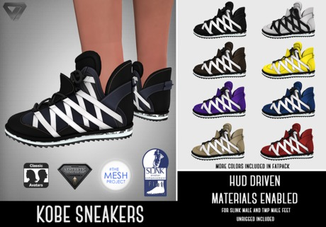SALE - ILLI - [SLink,MeshProject Men,Classic,Aesthetic] Kobe Sneakers (HUD Driven)