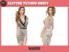 .::X::. - Glitter Tuxedo Dress - White (5 Fitted Mesh Sizes)
