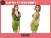 .::X::. - Glitter Tuxedo Dress - Green (5 Fitted Mesh Sizes)
