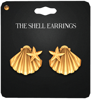 Amala - The Shell Earrings - Gold
