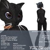 Sculpted Head - Furry Cat [black]