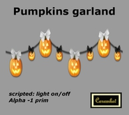 Halloween decor - Pumpkins garland