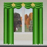 Curtain 2 Green-Gold