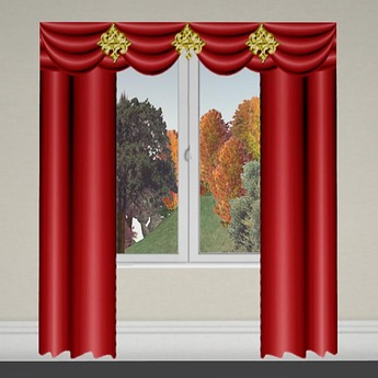 Curtain 2 Red-Gold