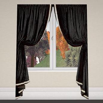 Curtain 1 black silver