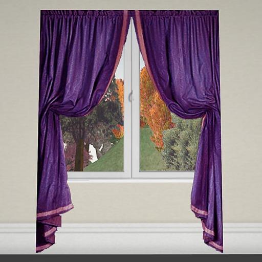 Curtain 1 purple