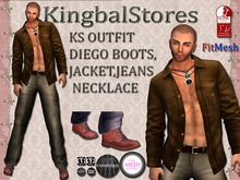 KS OUTFIT DIEGO BOOTS_JACKET_JEANS_NECKLACE[SLINK PHYSIQUE][FITMESH][TMP]