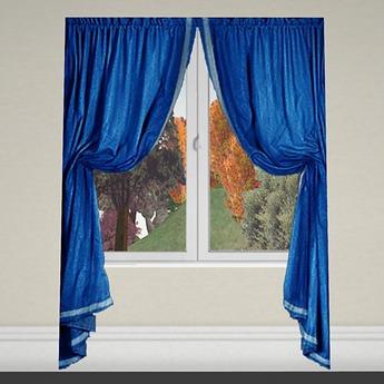 Curtain 1 blue