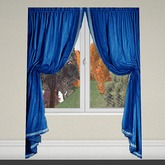 Curtain 1 blue