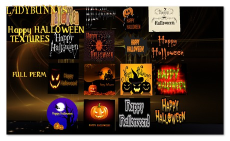 ** How About That....Texture!**   LadyBunnys Happy Halloween Textures {Full Perm Textures}