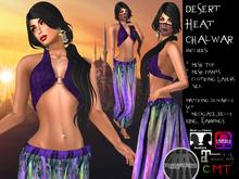 -o-o- CH -o-o- Desert Heat Chalwar with Appliers - Purple