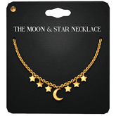 Amala - The Moon & Stars Necklace - Gold