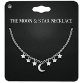 Amala - The Moon & Stars Necklace - Silver