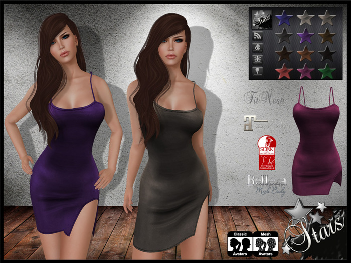 *Stars*Fashion* Cami (Mesh for standard, Belleza, Maitreya, Slink), 12 colors